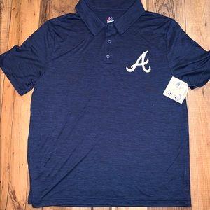 NEW with tags Atlanta Braves polo!